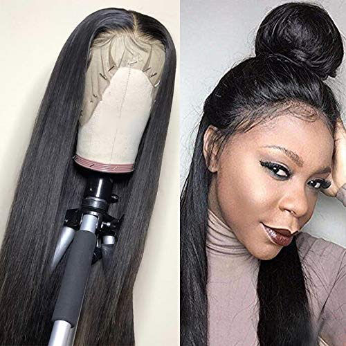 Sdamey 360 Lace Frontal Wig Pre Plucked With Baby Hair Lace Front Wigs Human Hair Straight Human Hair Wigs Natural Hairline For Black Women(18Inch)