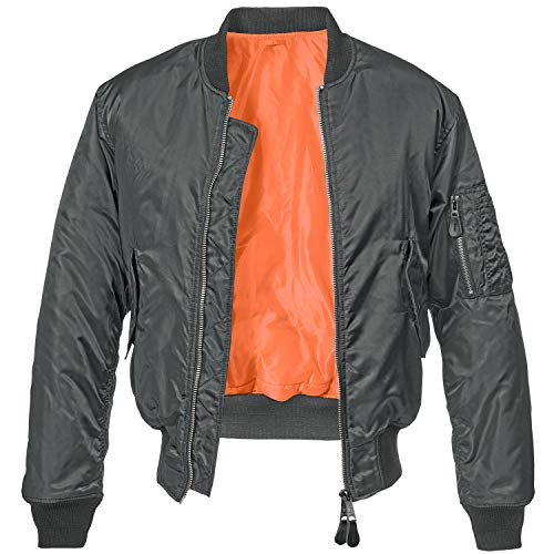 Brandit MA1 Jacke Chaqueta, antracita, M para Hombre