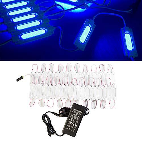 LEDUPDATES - Luz LED para Ventana Delantera con Fuente de alimentación UL más Brillante Que 5050 5630 5730 2835