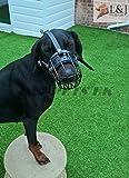 NUEVO metal cesta bozal para perro con revestimiento de goma de plástico para dóberman, Malinois