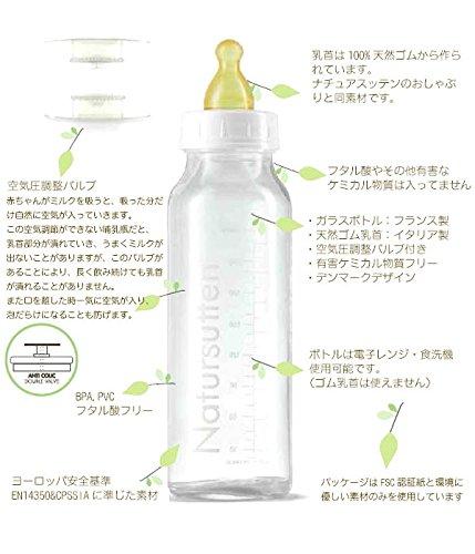 Natursuttenナチュアスッテンガラス哺乳瓶2本セットミルクボトル