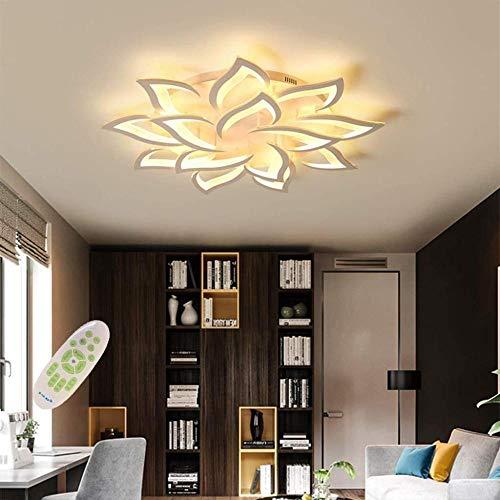 LED Deckenleuchte Dimmbar ,Wohnzimmerlampe mit Fernbedienung Farbwechsel ,Schlafzimmer Deckenlampe moderne Deckenbeleuchtung Deckenbeleuchtung Kronleuchter Lampe,Dimming 14 heads/Ø100cm/39.3in