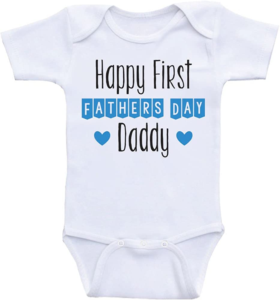 Father/'s Day Happy 1st Father/'s Day Fathers Day Bodysuit Happy Father/'s Day