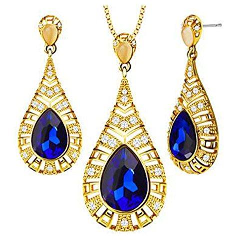 GYJUN Bijoux Colliers décoratifs / Boucles d'oreille A la Mode Mariage / Soirée / Décontracté 1set , blue