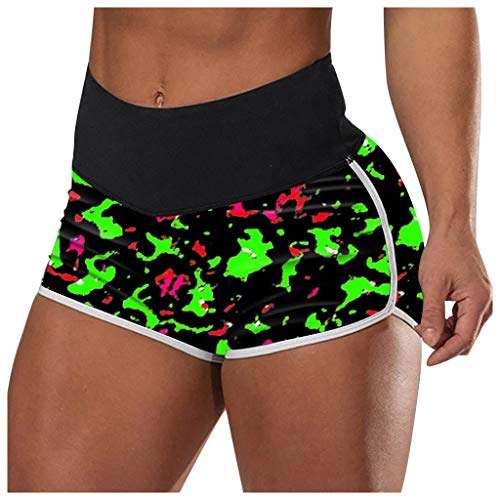 RODMA Pantalon De Yoga Imprimé Femme Short Stretch Taille Haute Leggings Courts Short De Sport Moulant Pantalon De Compression De Yoga