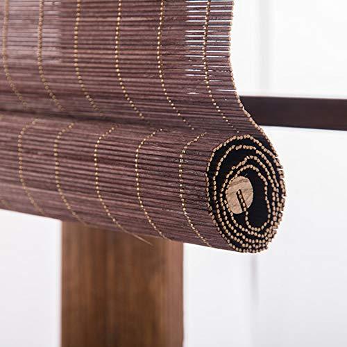 Bamboo curtain Cortina de bambú apagón persiana salón salón de té Cortina balcón Oficina Cortina Retro
