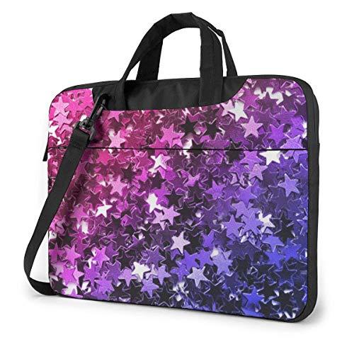 Bolso Bandolera para portátil con Manga maletín a Prueba de Golpes de Blue Star Violeta con Correa