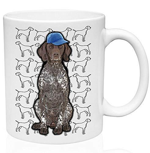 Divertida taza de café, diseño de perro puntero de 325 ml, cerámica de alta calidad, taza de café o té