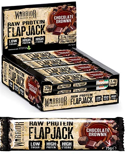 Warrior Raw Protein Flapjack, Chocolate Brownie - 12 Bars 460 g (P33880)