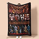 Birthday Gifts Quote Personalized Name This is My Horror Movie Watching Blanket, Fleece Sherpa Woven Blankets, On Holidays, Vacation, Christmas, Brithday Custom Size