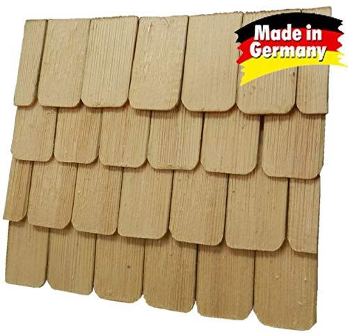 WeWi 100 Stück Dachschindel, handgeschlagen, naturfarben 4x2,3x0,3cm - Krippen