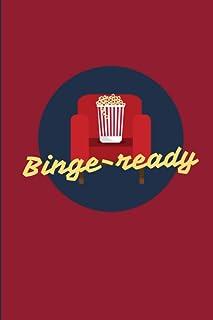 Binge-ready: Cahier pour suivre ses séries TV préférées grâce à ce journal à compléter | garder une trace du visionnage de...