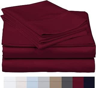 600 Thread Count 100% Long Staple Soft Egyptian Cotton SheetSet, 4 Piece Set, QUEEN SHEETS,upto 17
