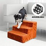 Namsan - Scaletta per cani, facile da montare, con rivestimento in peluche lavabile per divano/letto