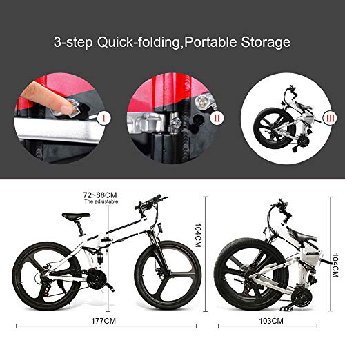 Acreny Delivery Time 3-7 Days Folding Mountain Bike Electric Bicycle 26 Inch 350W Brushless Motor 48V Portable for Outdoor