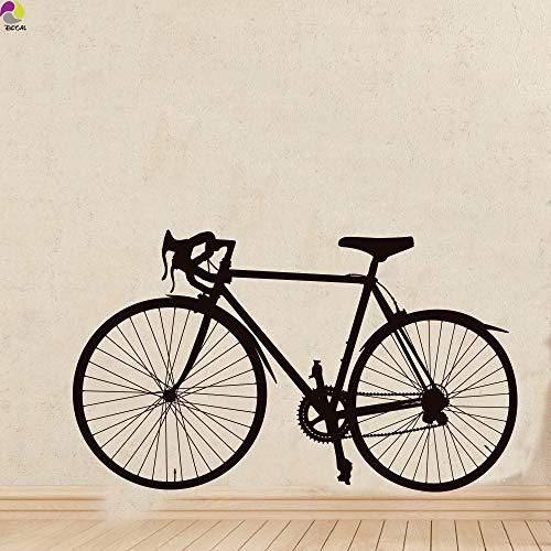 DLYD Straße Fahrrad Wandaufkleber Schlafzimmer Wohnzimmer Rennrad Fahrt Verkehr Sport Wandtattoo Boy Room Vinyl Wohnkultur Wandkunst 94x56 cm