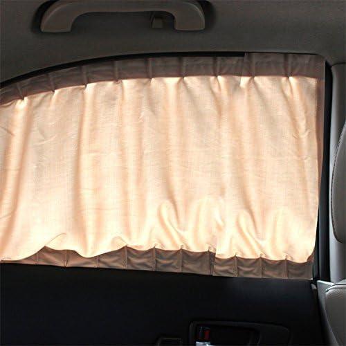 PP-NEST Car Curtains 50L mesh 51 47 car Shading Anti-UV Sunshine Privacy Protection PBCL-02 (Beige)