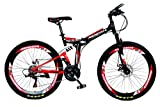 MDS Unlimited CYCLES ROADY 26 inch 21 Shimano Gear Dual Suspension Double Disc