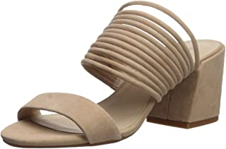 Kenneth Cole New York Women's Hannon Strappy Mule Heeled Sandal, Buff, 7.5 M US