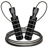 Letsfit Jump Rope, Tangle-Free with Ball Bearing Skipping Rope for Fitness Workout Aerobic Exercise,...