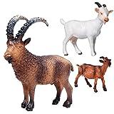 KingbeefLIU Simulación Estática Sólida Modelo De Animal Salvaje Nueva Granja Cabra Ovejas Pasto Aves De Corral Juguete Decoración # 876