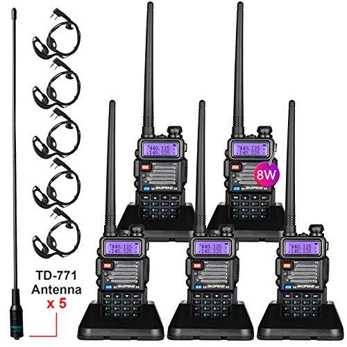 BaoFeng Radio High Power Upgraded Baofeng UV-5R Ham Radio Handheld Two Way Radios with TIDRADIO-771 Antenna Baofeng Walkie Talkies (5 Pack). Buy it now for 158.88