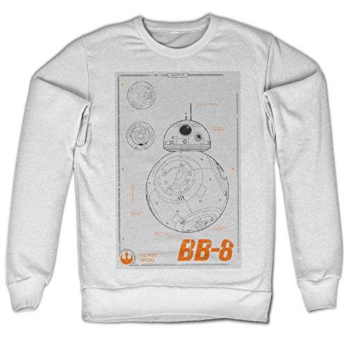 BB-8 Bleuprint Sweatshirt (Blanc), Large