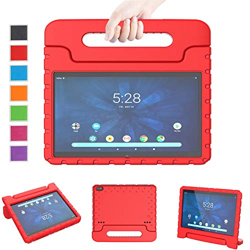LTROP Onn 10.1-Inch Tablet Case, Onn 10.1 Tablet Case, Light Weight Shockproof Convertible Handle Stand Child-Proof Kids Case for Walmart Onn 10.1 Android Tablet (Model: ONA19TB003) (Red)