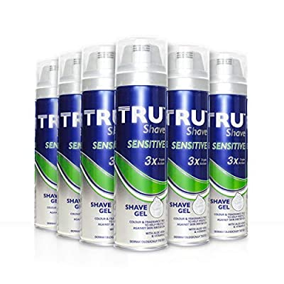 TRU Sensitive Triple Action Shave Gel, 200 ml,Pack of 6 by Brand Architekts