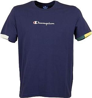 457f34560 Champion Hombre Camiseta Ringer, Azul