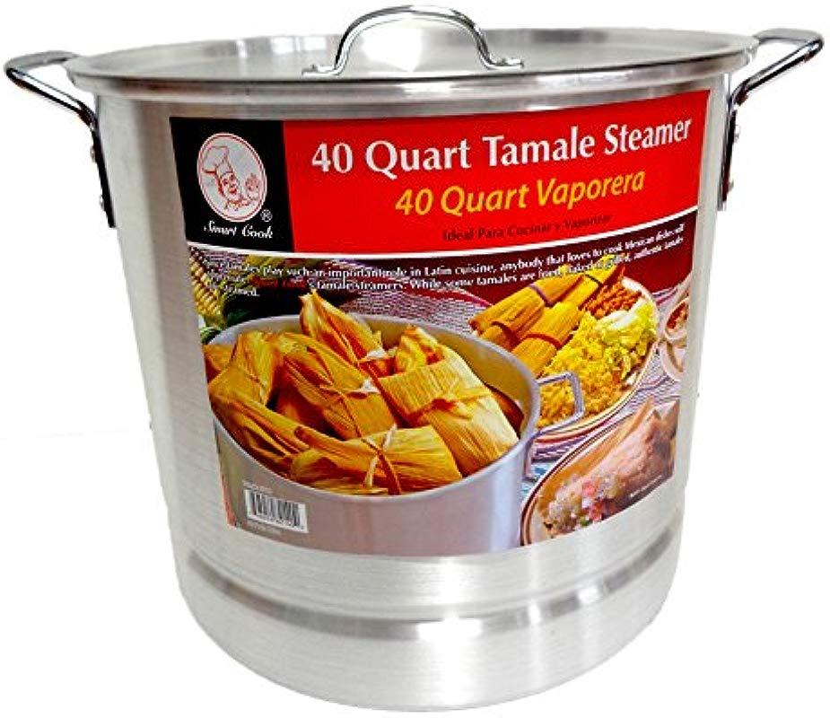 40 Qt Tamale Steamer Vaporera Stock Pot Premium Aluminum Tamalera 10 Gallons