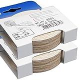 2-er Pack Melaminkantenumleimer in Sonoma Eiche 20 mm x 5 m Rolle (2 Rollen = 10 Meter) Umleimer in Holzoptik, glatt und strukturlos, Kantenumleimer inkl. Schmelzkleber