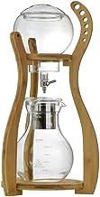 Ice Drop Coffee Pot, 800Ml Bamboo Pillar Cold Brew Coffee Maker Barista Maker DIY Household Coffee Maker 5-8 Cups
