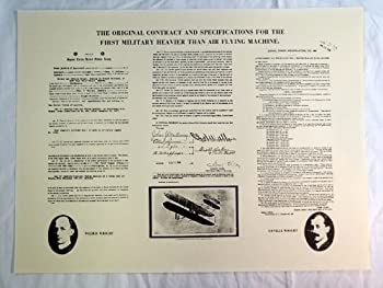 The Wright Brothers U.S Air Force Airplane Military Contract 1908 Poster