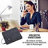 oneConcept Magic Carpet DLX Heizmatte Heizteppich, 60 x 70 cm, Leistung: 190 Watt, 4 Temperaturstufen, Timer-Funktion, LCD-Display, rutschfest, anthrazit - 8
