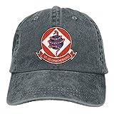 VF-102 Diamond Backs Mens Cotton Adjustable Washed Twill Baseball Cap Hat Deep Heather