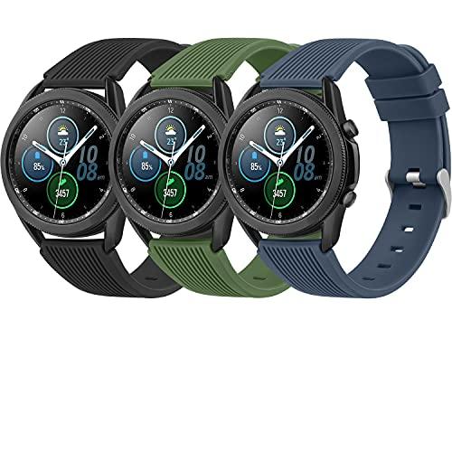 Yisica Armband Kompatibel mit Samsung Gear S3 Frontier/Classic/Samsung Galaxy Watch 3 45mm/Galaxy Watch 46mm, 22mm Weiches Silikon Sport Armband Ersatz für Huawei Watch GT/GT 2 46mm/Polar Vantage M