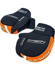 Amison バイク用 ハンドルカバー ネオプレーン 防寒 防水 防風 ハンドルウォーマー 保温性抜群 反射コーティング付き