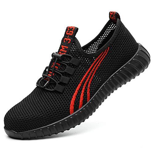 DoGeek Zapato Seguridad con Punta de Acero Antideslizante, Senderismo Unisex-Adulto