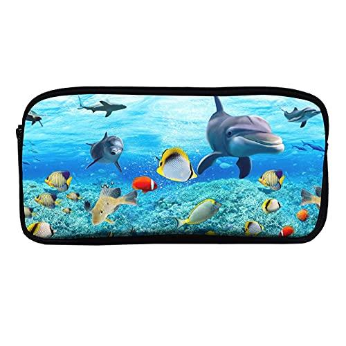Kleine und große Schreibwarenbox mit YHO-Design, schönes Aquarium, Fische, Wasserpflanzen, Schreibwarenbox-Set, Schreibwarenbox