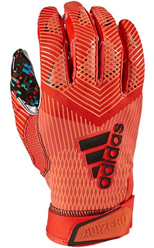 adidas Adizero 8.0 All American Pack Receiver's Football Gloves Red Large