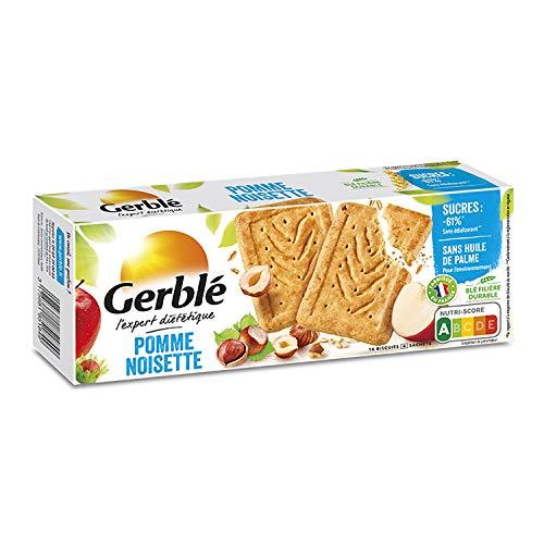 Gerblé Teneur réduite, Biscuits Pomme Noisette, Allégés en sucre et en sel, 16 biscuits, 230 g, 207084