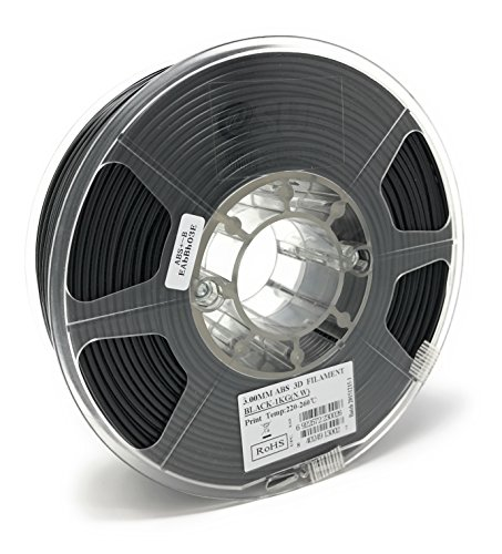 eSUN 3mm Black ABS 3D Printer Filament 1kg Spool (2.2lbs), Actual Diameter 2.85mm +/- 0.05mm, Black