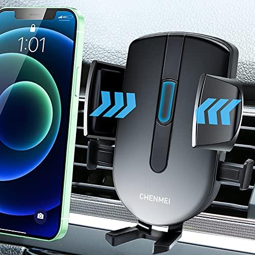 Soporte Móvil Coche, Soporte Móvil Télefono para Rejilla del Aire Ventilación con 360° Rotación Universal Automático Ajustable por Gravedad para Smartphones de 4,7 a 6,7 Pulgadas