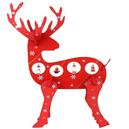 Natale Decorativo In Legno Di Renna, Anvor® Wood Deer Elk Decorazione Ornamenti Decorazione Domestica