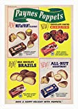 Paynes Poppets Poster, Schokolade, Vintage,