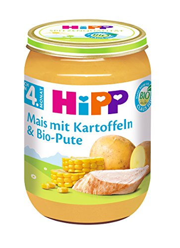 Hipp Mais mit Kartoffelpüree und Bio-Pute, 6er Pack (6 x 190g)