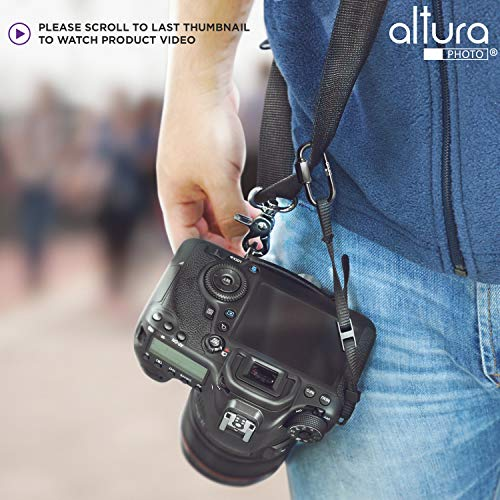 Camera Tether Safety Strap for DSLR Cameras by Altura Photo (2 Pack)