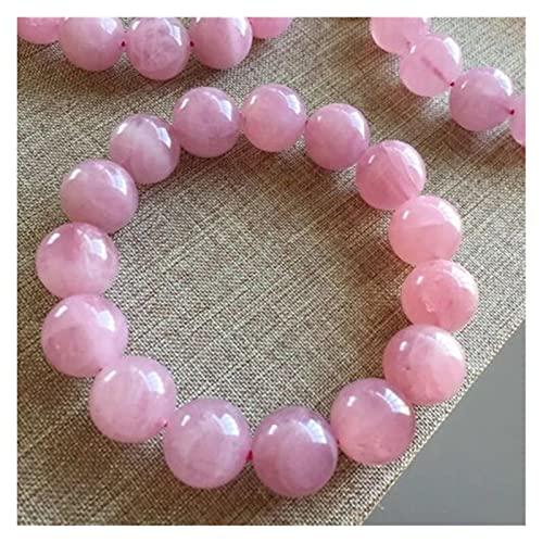 Natural Madagascar pulsera de cuarzo rosa para las mujeres estiramiento de cristal estiramiento 11mm 12 mm 13 mm 14mm Beads redondo Pulsera Joyería AAAAA Espíritus malignos dinero dibujo riqueza fortu