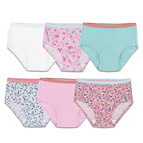 Fruit of the Loom Assorted Brief Underwear, 6 Pack (Toddler Girls)